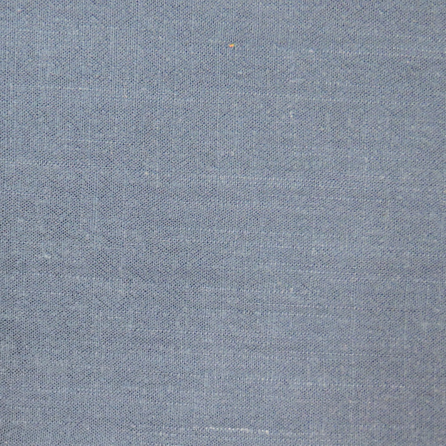 Denim Blue Viscose Linen Slub Fabric