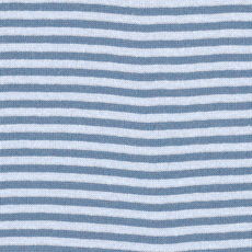 Denim / Light Blue Striped Tubular Ribbing