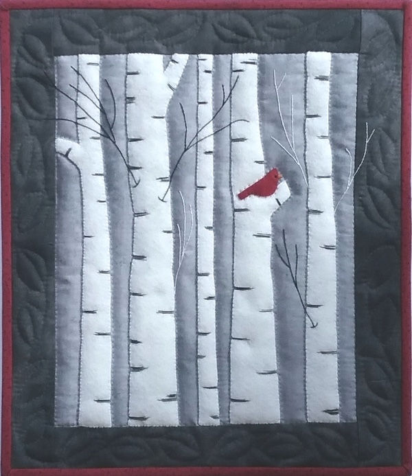 Miniature Quilt Kit - Birches 13in X 15in