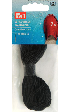 Espadrille Black Creative Yarn, 7m, 100% Cotton