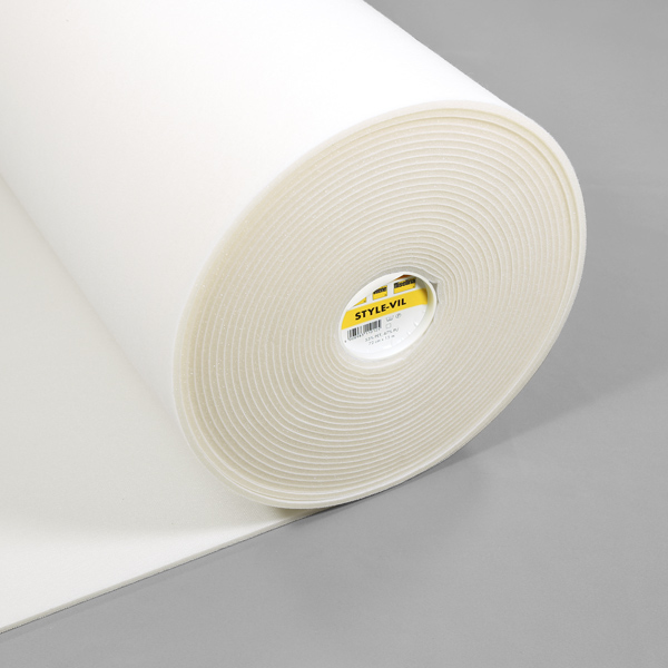 Vlieseline Style-Vil Fix Single Sided Fusible Foam Interfacing 72cm x 15m - White