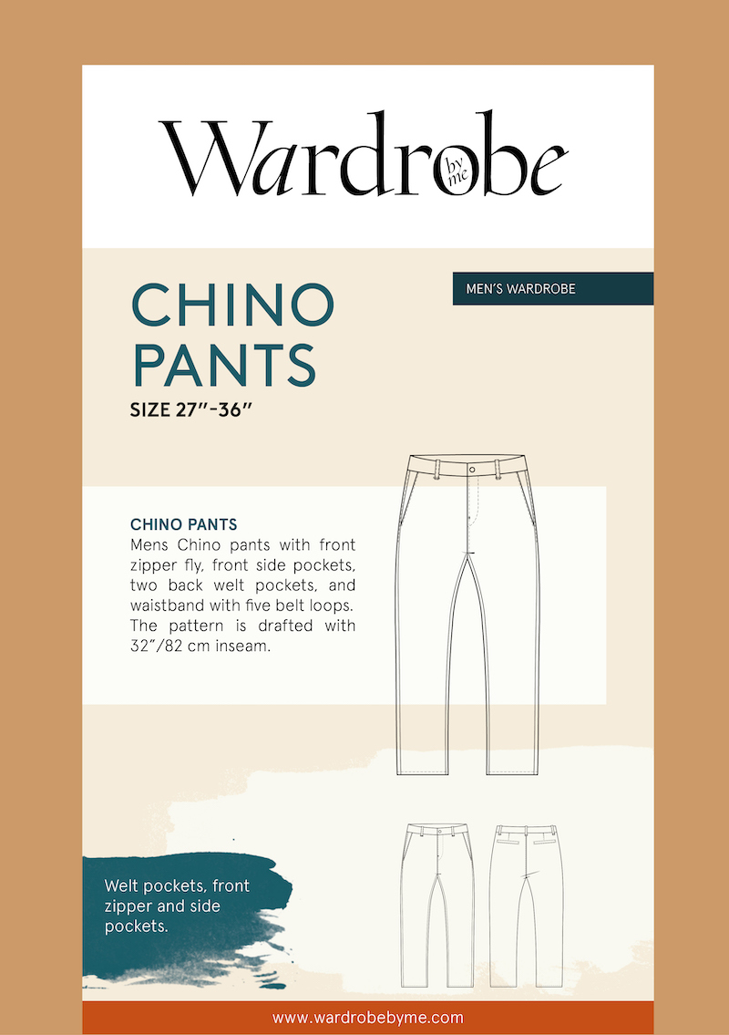 Chino Pants Pattern By Wardrobe By Me