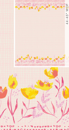Wonderful Things Garden Walk Shine (Double Border Panel) - Art Gallery Fabric 44in/45in Per Metre