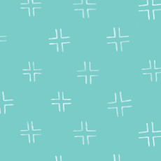 Brush Strokes Trellis Turquoise - Cloud 9 Quilters Weight Fabric 44in/45in Per Metre