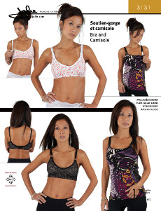 Bra And Camisole Pattern - Jalie Patterns