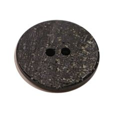 Acrylic Button 2 Hole Textured Speckle 15mm Black