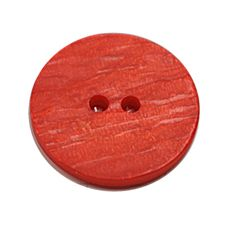 Acrylic Button 2 Hole Textured Without Gloss 15mm Orange