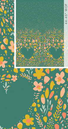 Garden Dreamer Love Garden Vibrant (Panel) - Art Gallery Fabric 44in/45in Per Metre