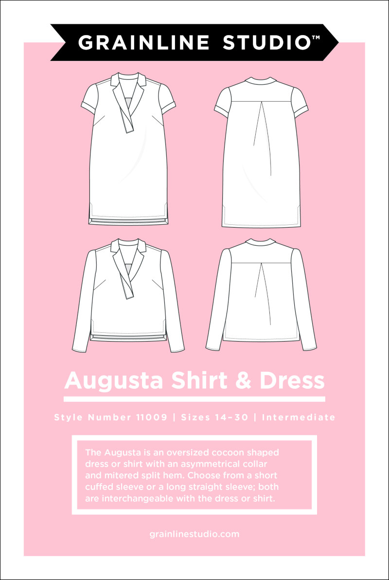 Augusta Shirt & Dress Pattern Size 14-30 by Grainline Studio