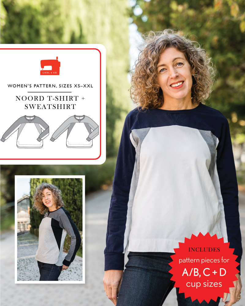 Noord T-Shirt & Sweatshirt Pattern by Liesl + Co
