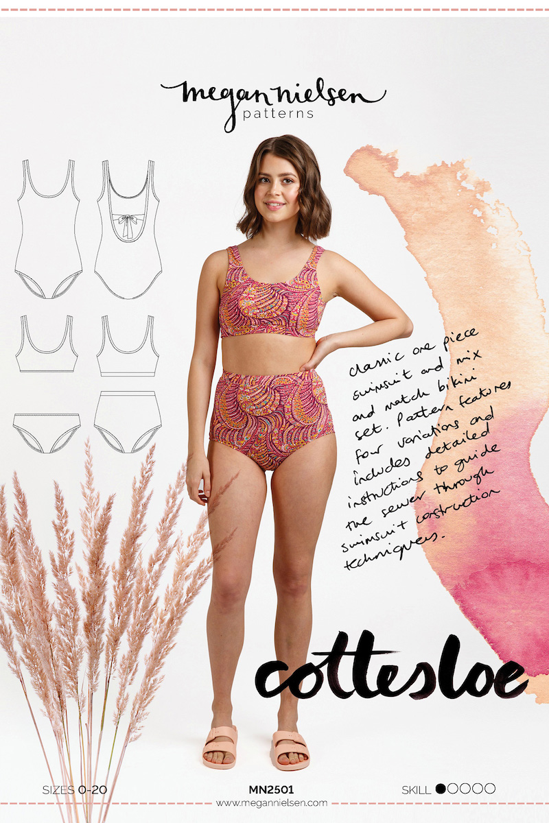 Cottesloe Swimsuit Pattern - By Megan Nielsen