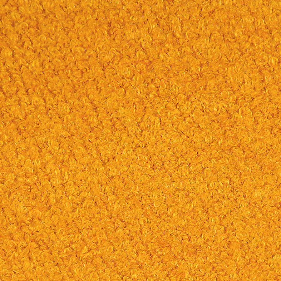 Gold Wool Blend Boucle Coat Fabric
