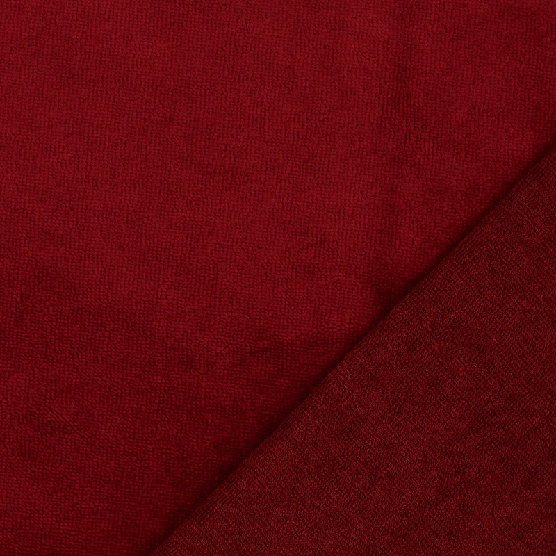 Claret Bamboo Blend Towelling Fabric