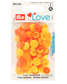 Prym Assorted Yellows Non-sew Colour Snaps - 12.4mm 30 Pieces