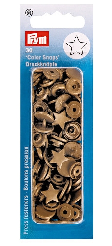 Prym Gold Star Non-sew Colour Snaps - 12.4mm 30 Pieces