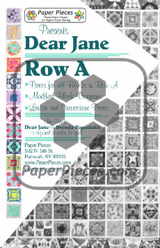 Dear Jane Quilt Paper Piece Pack Row A - Paper Piecing