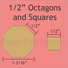 0.5 Inch Octagons And 0.5 Inch Squares 100 Pieces - Paper Piecing
