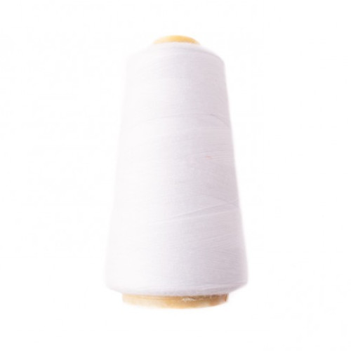 Hantex Overlocker Thread - White - 100% Polyester 3000 Yrds (2700+m)
