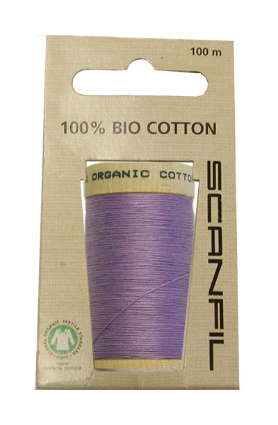 Scanfil Organic Thread 100 Metre Hang-sell - Lavender