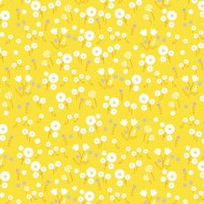 Stay Gold Marigold Pollen - Cloud 9 Quilters Weight Fabric 44in/45in Per Metre