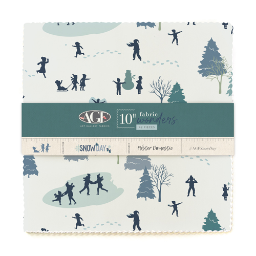 10in Fabric Wonders in Cotton from Snow Day designed by Mister Domestic for AGF