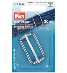 Prym Adjusting Buckle 30mm Silver Coloured - 1 Piece