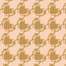 Blithe Deer Houndstooth Tan - Art Gallery Fabric 44in/45in Per Metre