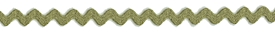 Olive Green - Ric Rac - Mini 6mm Wide 33m Reel
