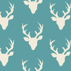 Hello Bear Buck Forest Lake - Art Gallery Fabric 44in/45in Per Metre