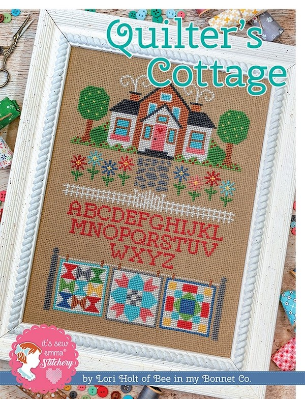 Quilter's Cottage Cross Stitch Pattern - Lori Holt