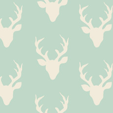 Hello Bear Buck Forest Mint Knit - Art Gallery Fabric 58in/60in Per Metre