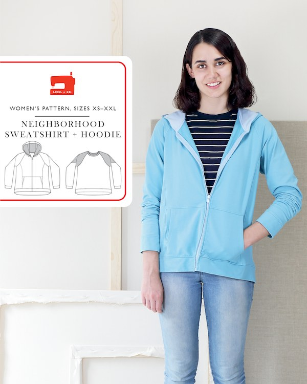 Neighborhood Sweatshirt & Hoodie - Liesl + Co Pattern