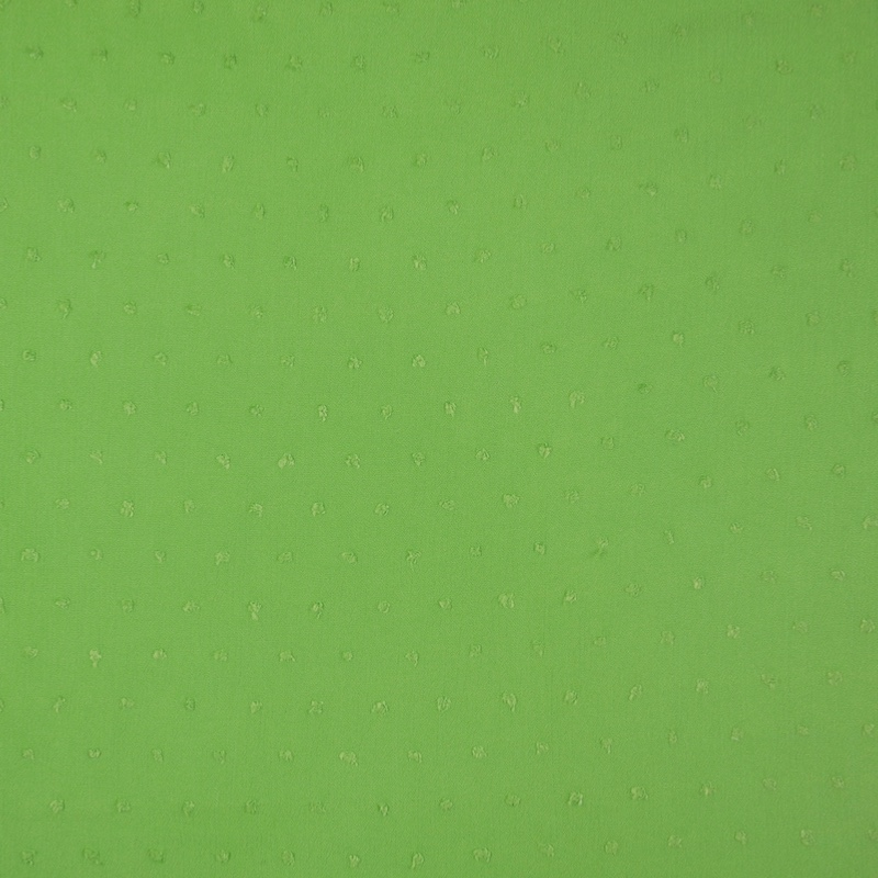 Lucerne Green Crinkle Swiss Dot Viscose Fabric