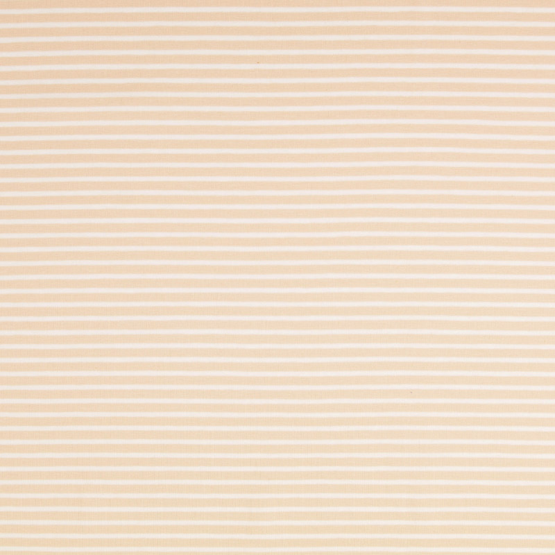 Nantes Tan and White Striped Knit Fabric