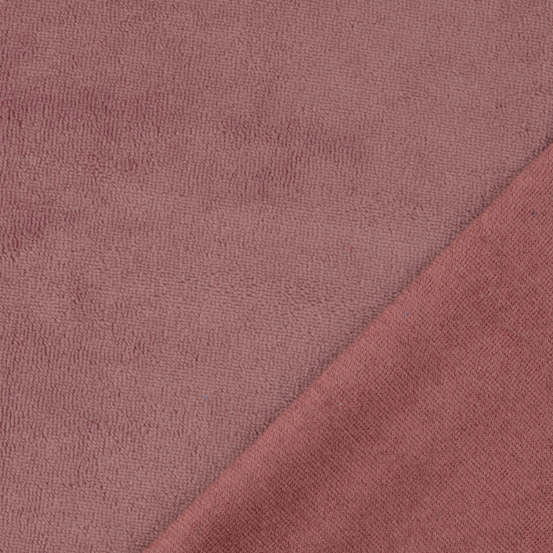 Mauve Bamboo Blend Towelling Fabric