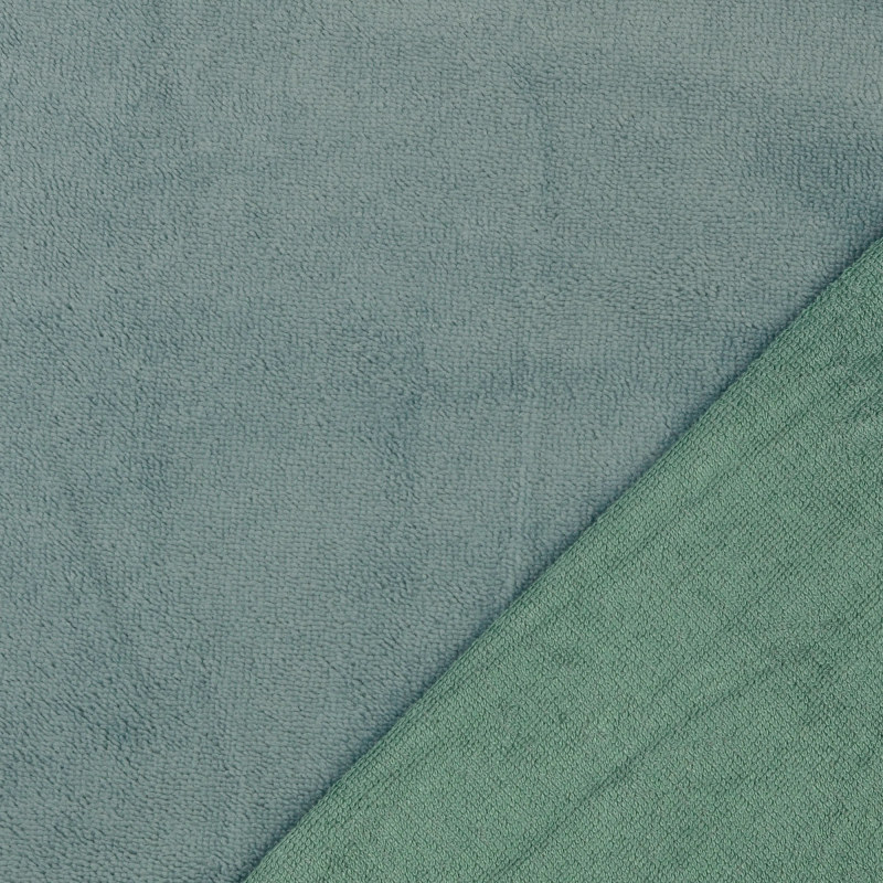 Soft Green Bamboo Blend Towelling Fabric
