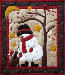 Miniature Quilt Kit - Frosty & Friend 13in X 15in