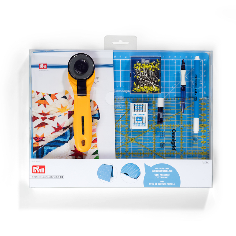 Prym Patchwork & Quilting Starter Set Inches Mat Cutter Ruler plus
