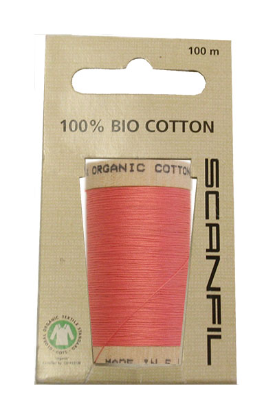 Scanfil Organic Thread 100 Metre Hang-sell - Dusky Pink
