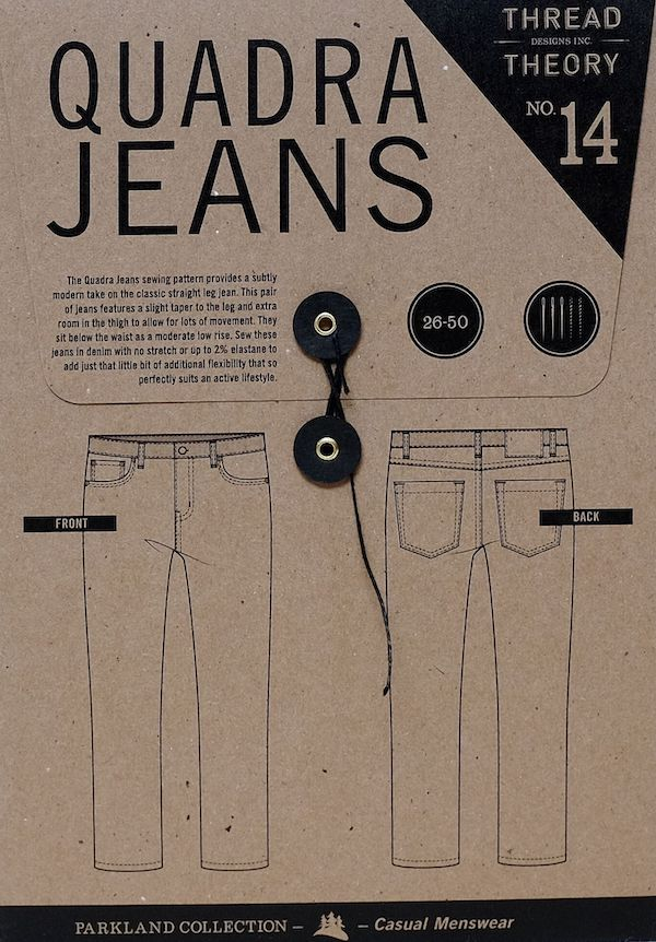 Quadra Jeans Pattern - By Thread Theory Designs
