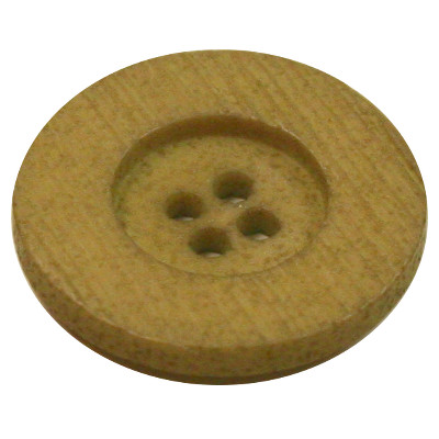 Acrylic Button 4 Hole Textured 18mm Olive