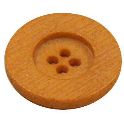 Acrylic Button 4 Hole Textured 25mm Pale Amber