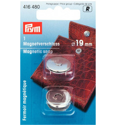 Prym Magnetic Snap 19mm Silver Coloured