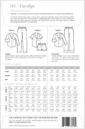 Carolyn Pajamas By Closet Core Patterns