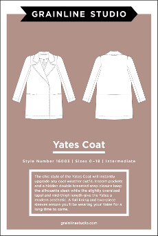 Yates Coat Pattern By Grainline Studio