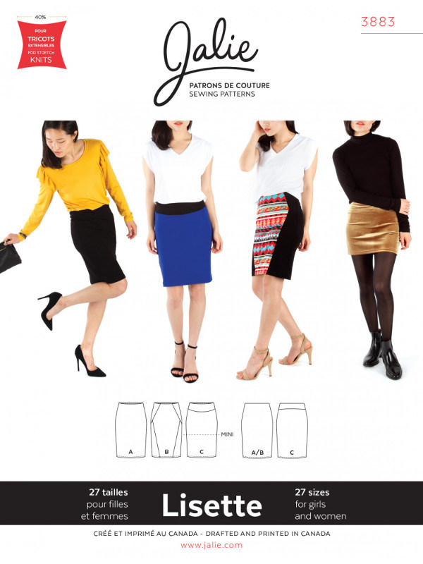 Lisette Pull-On Pencil Skirt Pattern - Jalie Patterns