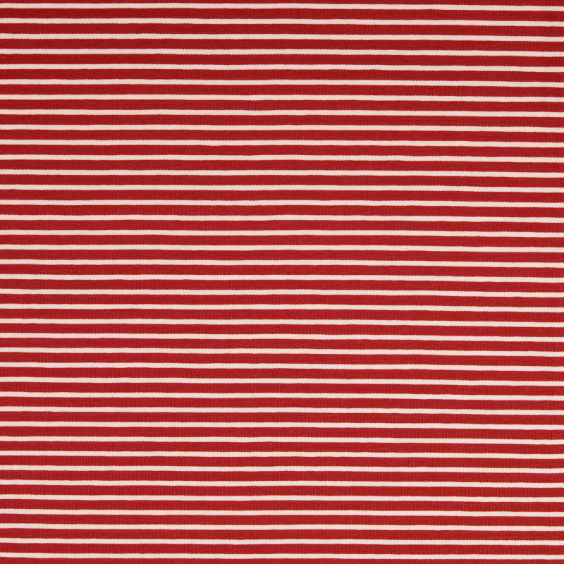 Nantes Red and White Striped Knit Fabric