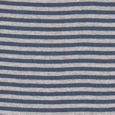 Denim / Heathered Grey Striped Tubular Ribbing