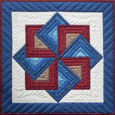 Miniature Quilt Kit - Starspin 56cm x 56cm (22in X 22in)