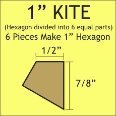 1in Hex Kite Small Pack 120 Complete Pieces - Paper Pieces